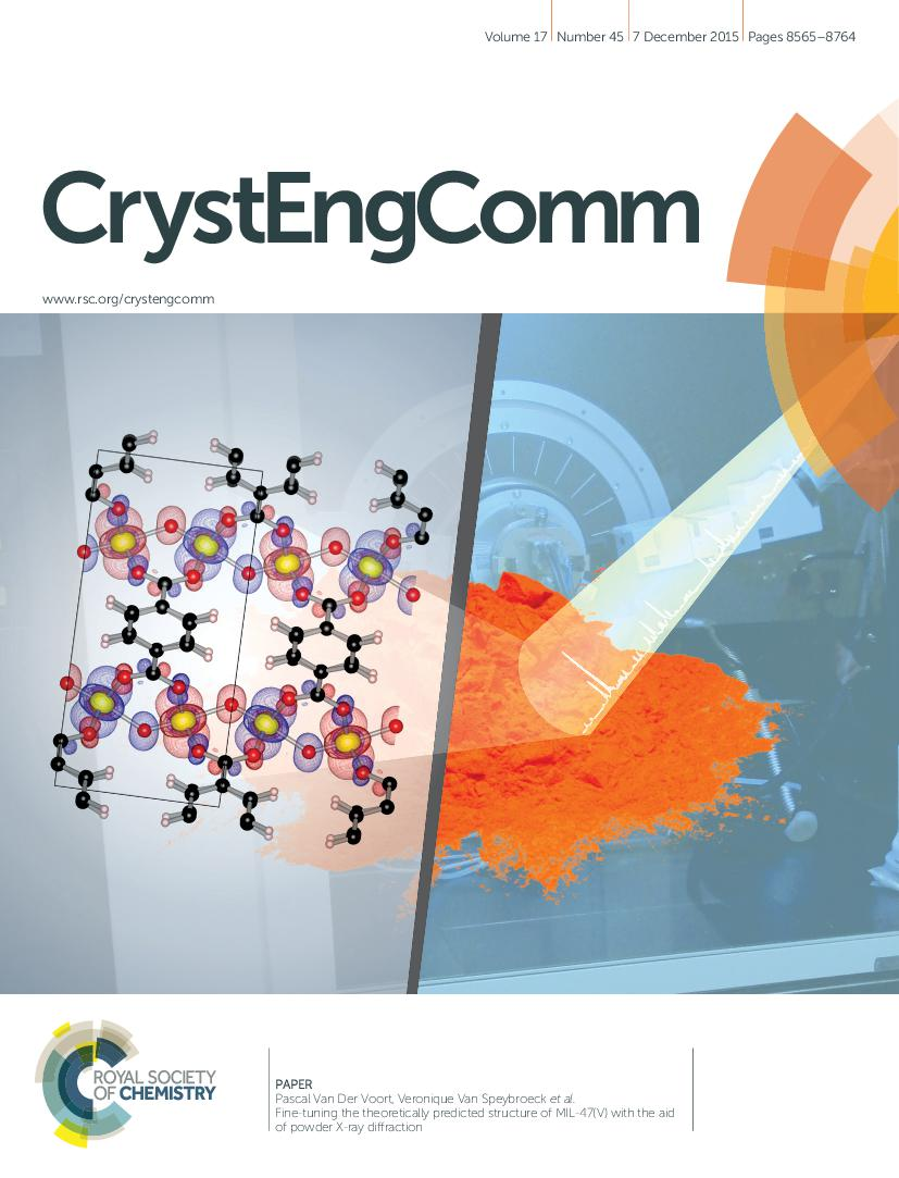 Cover of CrystEngComm: Volume 17, Issue 45, dec. 7, 2015