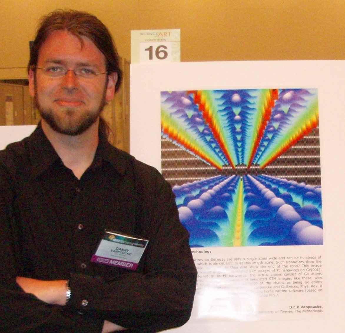 Me at the 2009 MRS spring meeting with my contribution to the Science as Art Competition.