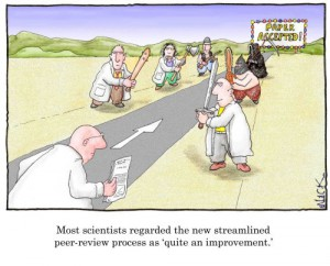 peer-review process (irony)